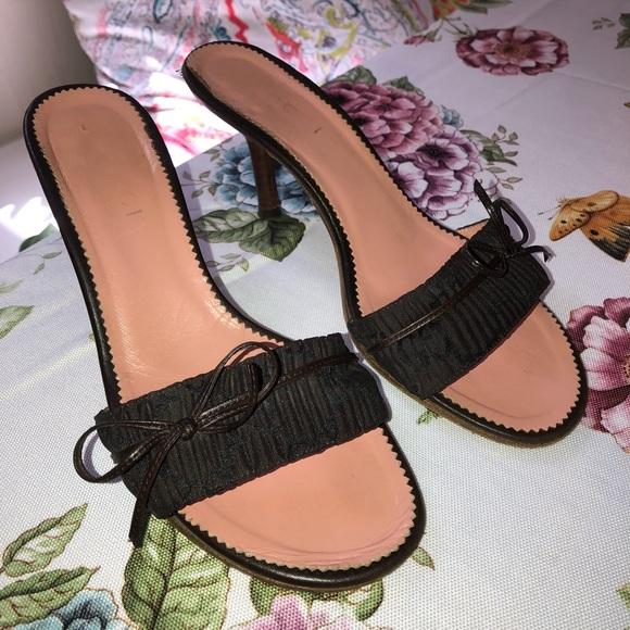 2b00aed03 Gucci Women's Brown GG Canvas Slides Heels. M_5ba7c30e4ab63324146081ba
